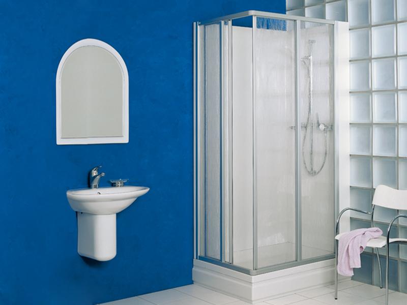 frei aufstellbare duschkabine